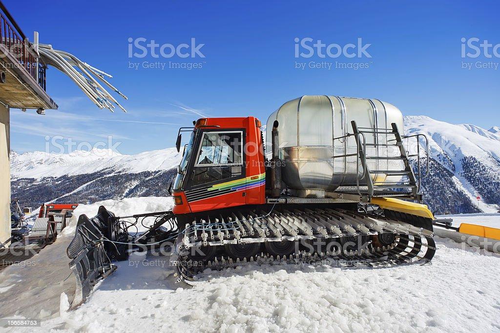 Snow-cat royalty-free stock photo