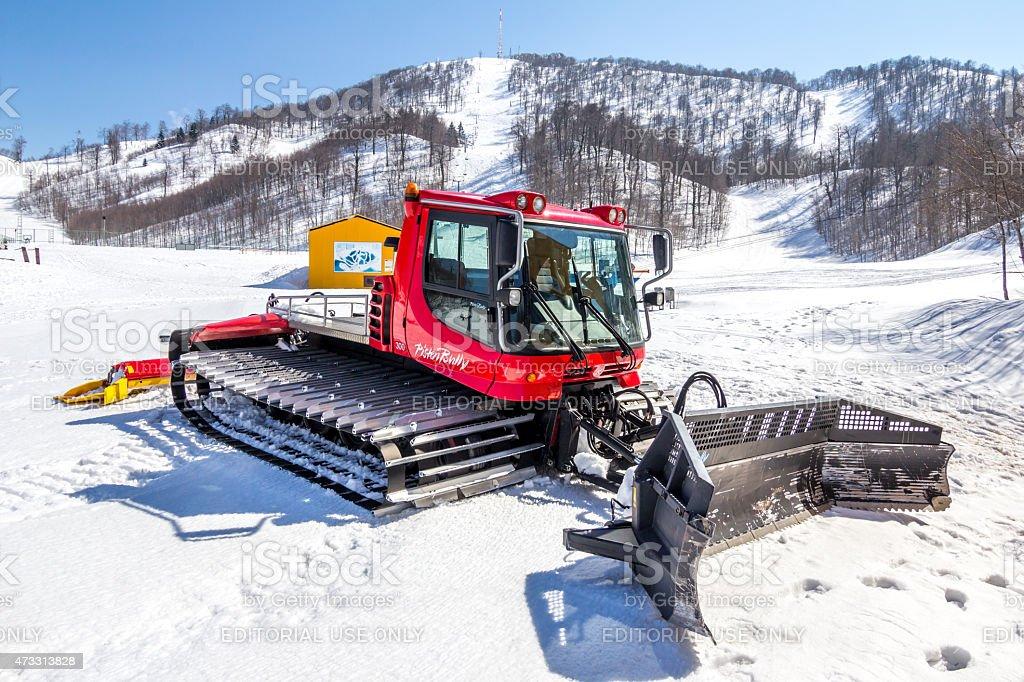 Snowcat PistenBully Ski Slop stock photo