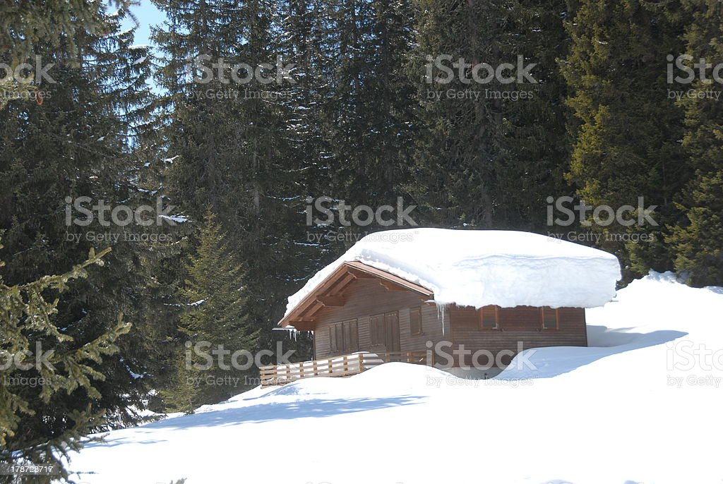 Snowcoverd Cottage stock photo