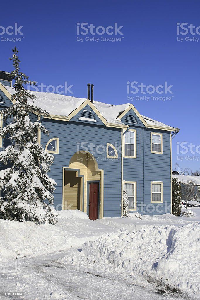 Snowcovered House in Winter royalty-free stock photo