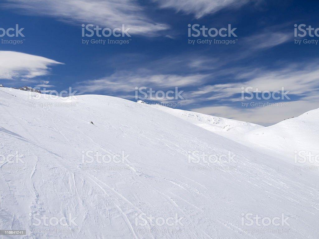 Snowcovered mountain royalty-free stock photo