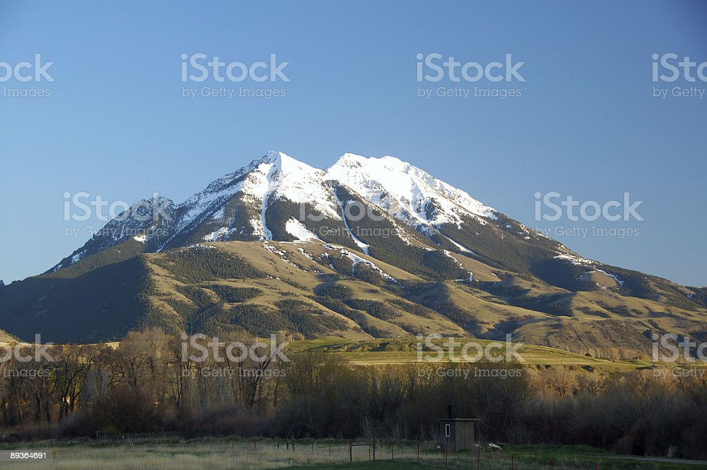 Snow-covered Rocky Mountain peaks royalty free stockfoto