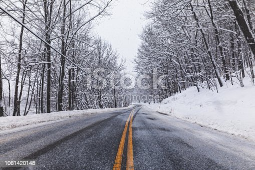 1066508460 istock photo Snow-covered Slippery - Typical North American Winter Scene 1061420148
