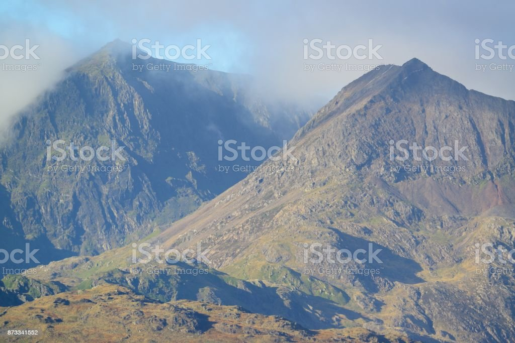Snowdon and Grib Coch stock photo