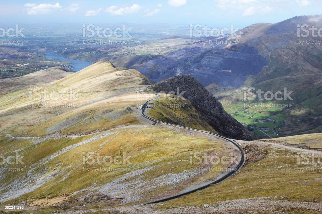 Snowdon Mountain Railway stock photo