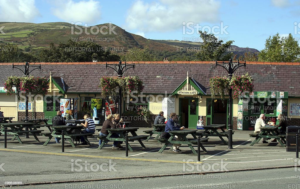 Snowdon Mountain Railway Station in Llanberis stock photo