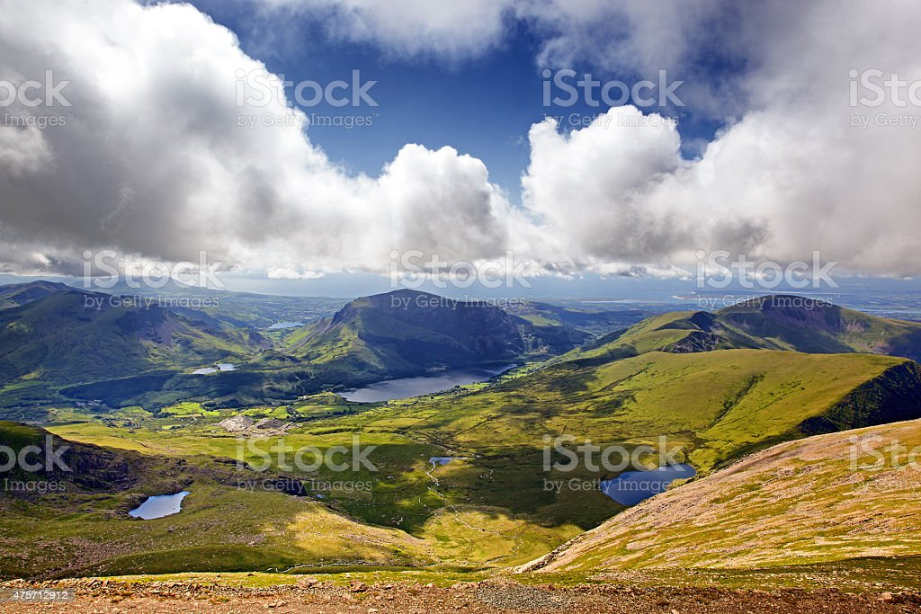 Snowdonia landscape stock photo