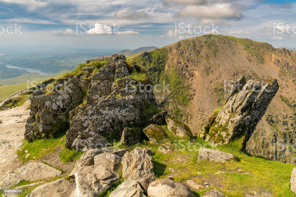 Snowdonia landscape, Wales, UK stock photo