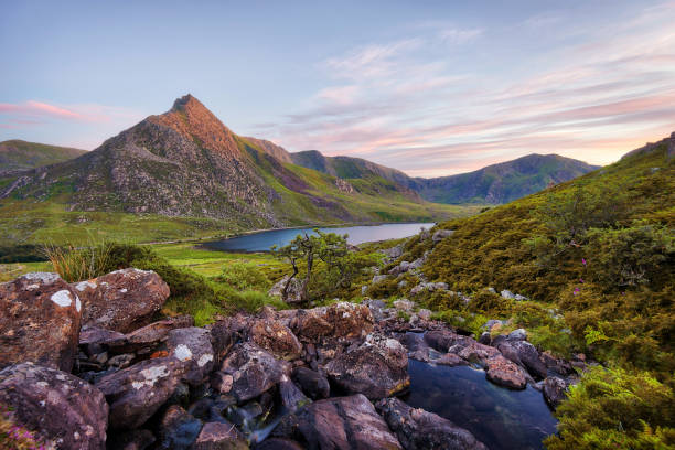 Snowdonia National Park in Northern Wales taken in June 2018 stock photo