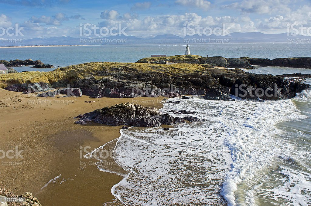 Snowdonia Llanddwyn Beach Anglesey North Wales Uk. Anglesey - Wales Stock Photo