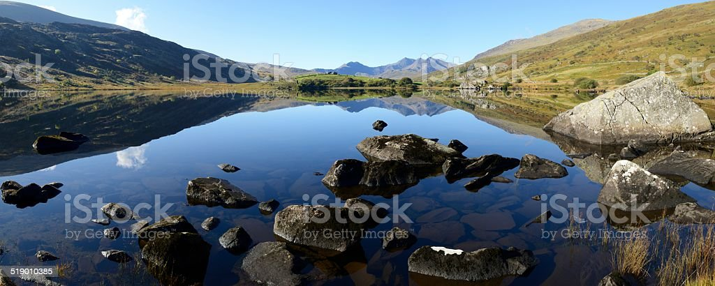 Snowdonia reflected stock photo