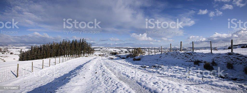 Snowdonia Snowfall royalty-free stock photo