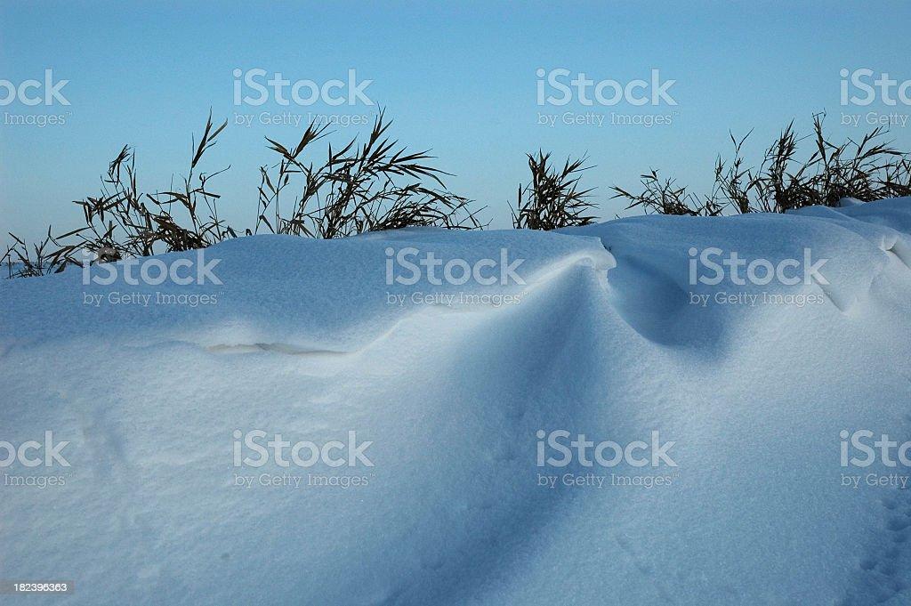 Snowdrift at Dusk stock photo