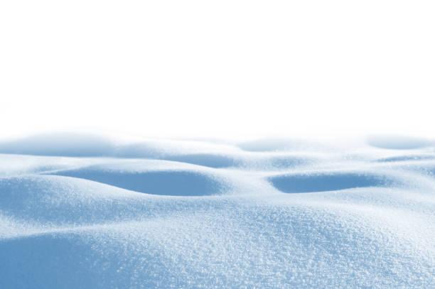 Snowdrifts on white background stock photo