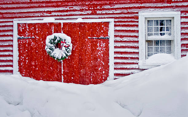 Snowed in at Christmas stock photo