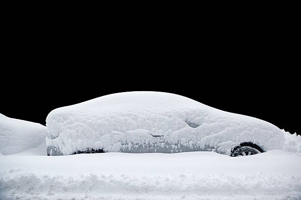 snowed in car - snow pile stock photos and pictures