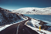 snowed road in iceland
