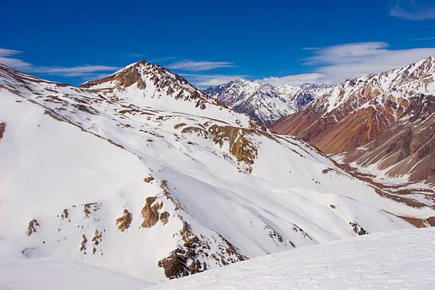 snowed in den rocky mountains in mendoza, argentinien - elemi stock-fotos und bilder