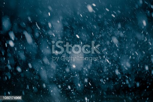 Snowflakes against black background for adding falling snow texture into your project. Add this picture as