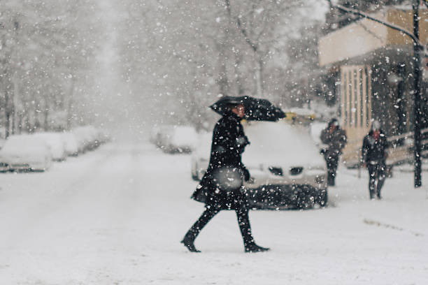 Snowfall in Montreal
