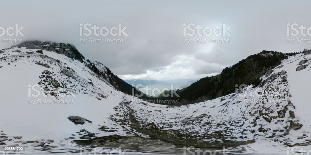 Snowfall in winter Switzerland alps - Royalty-free Backgrounds Stock Photo