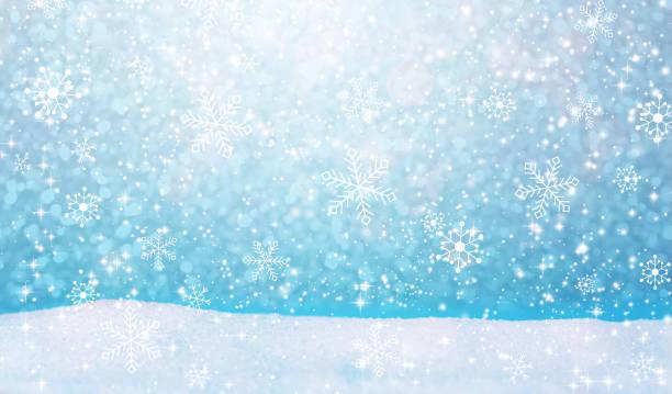 降雪風景の背景 - 雪景色 ストックフォトと画像