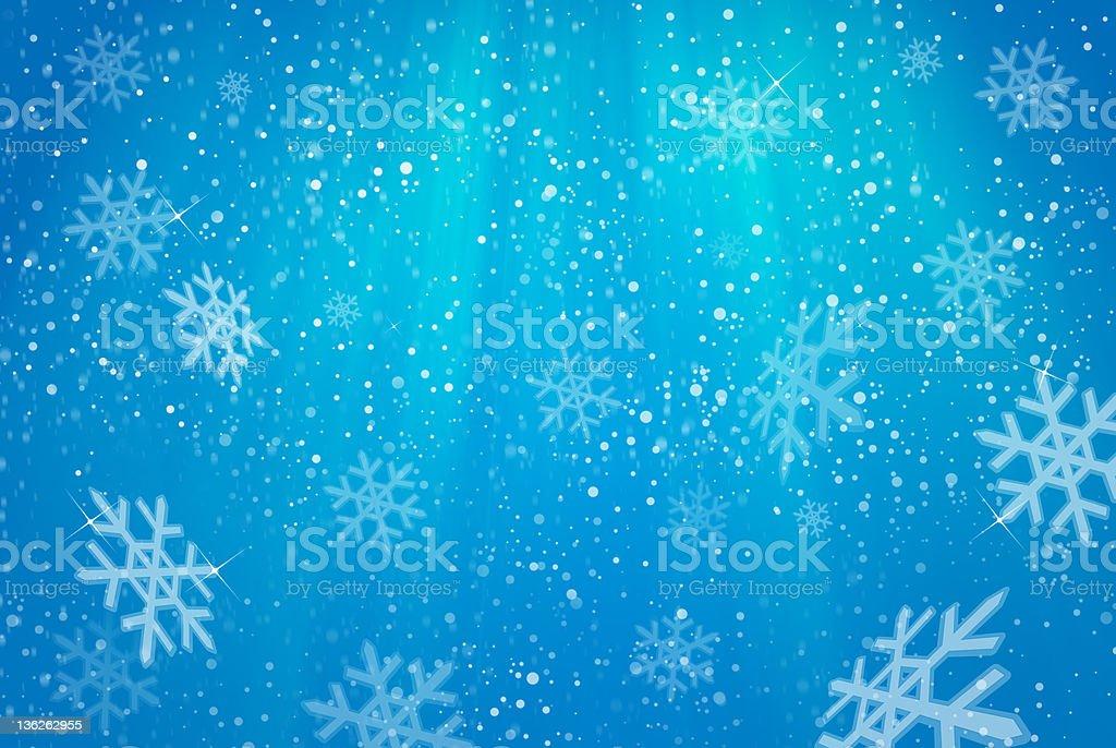 Snowfalling royalty-free stock photo
