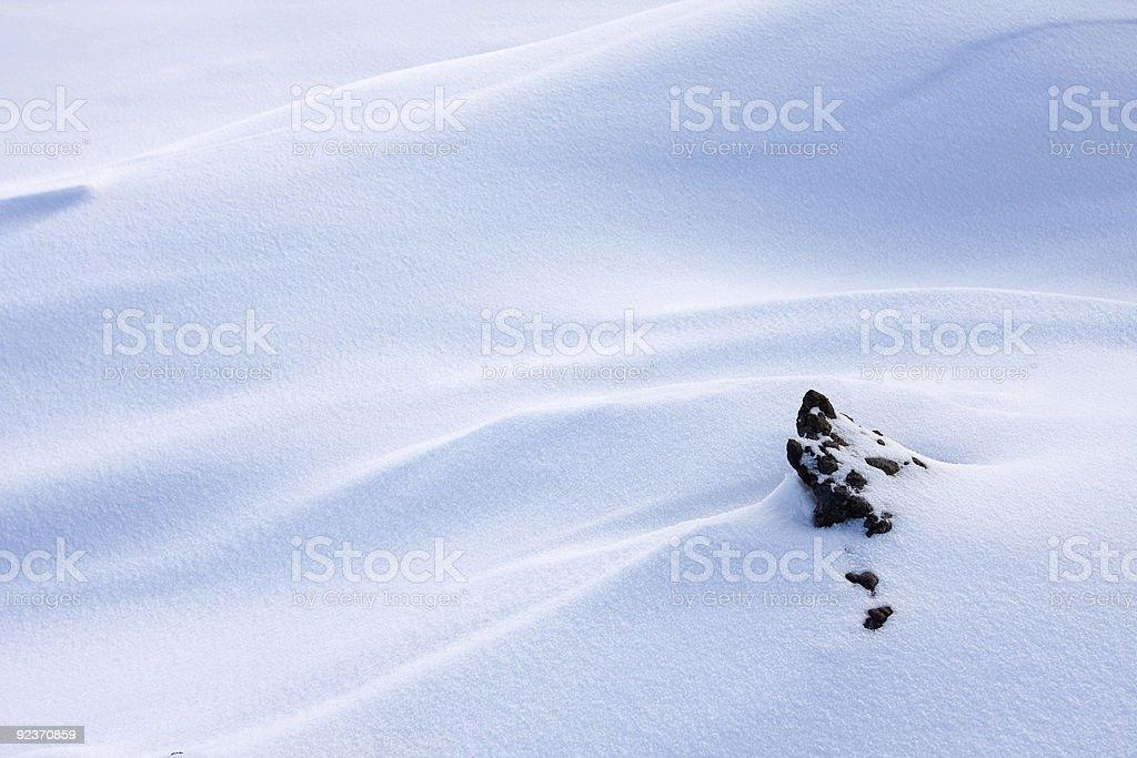 Snowfield royalty-free stock photo