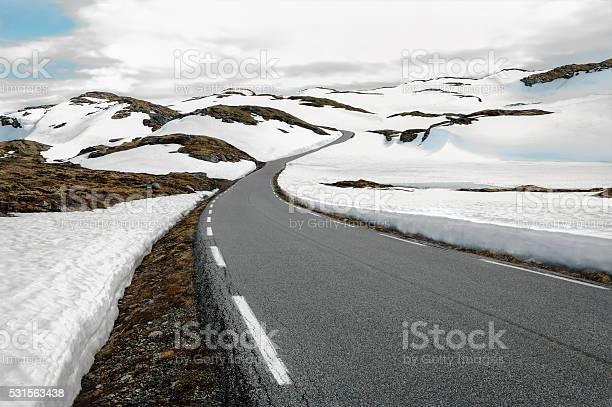 Photo of Snowfields Road in Norway