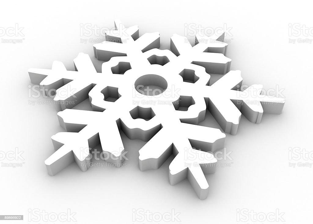 snowflake 3d royalty-free stock photo