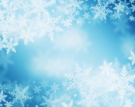 Fondo De Copo De Nieve Foto de stock y más banco de imágenes de Azul