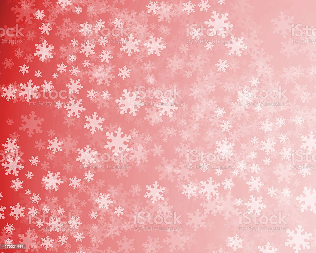Snowflake background red royalty-free stock photo