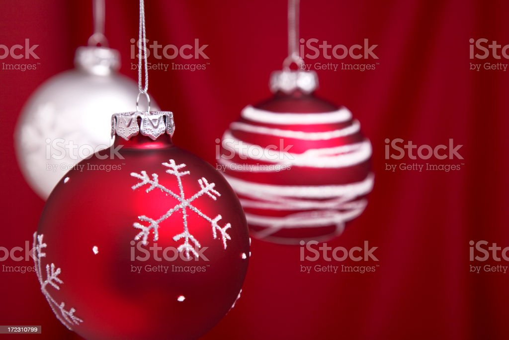 Snowflake Baubles (XL) royalty-free stock photo