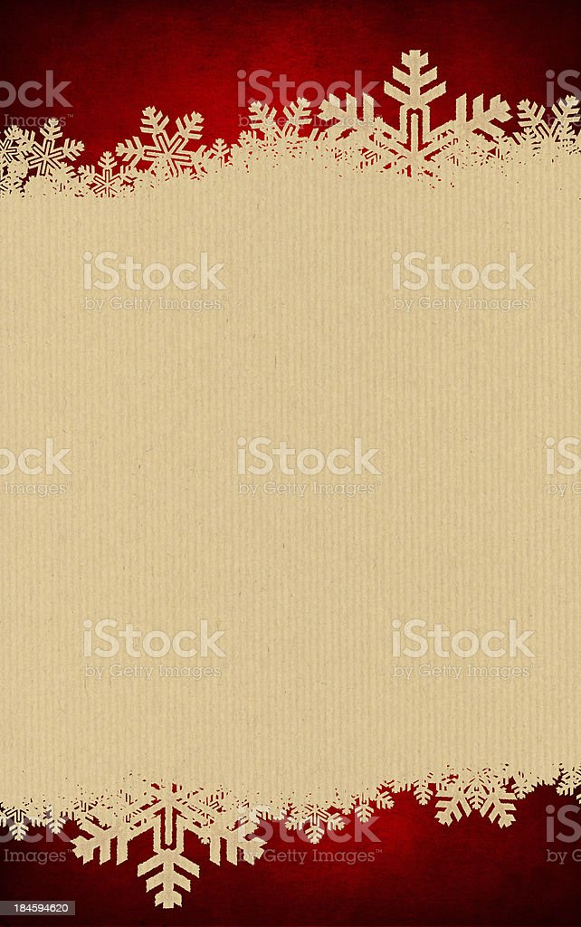 Snowflake Christmas background with grungey flakes royalty-free stock photo