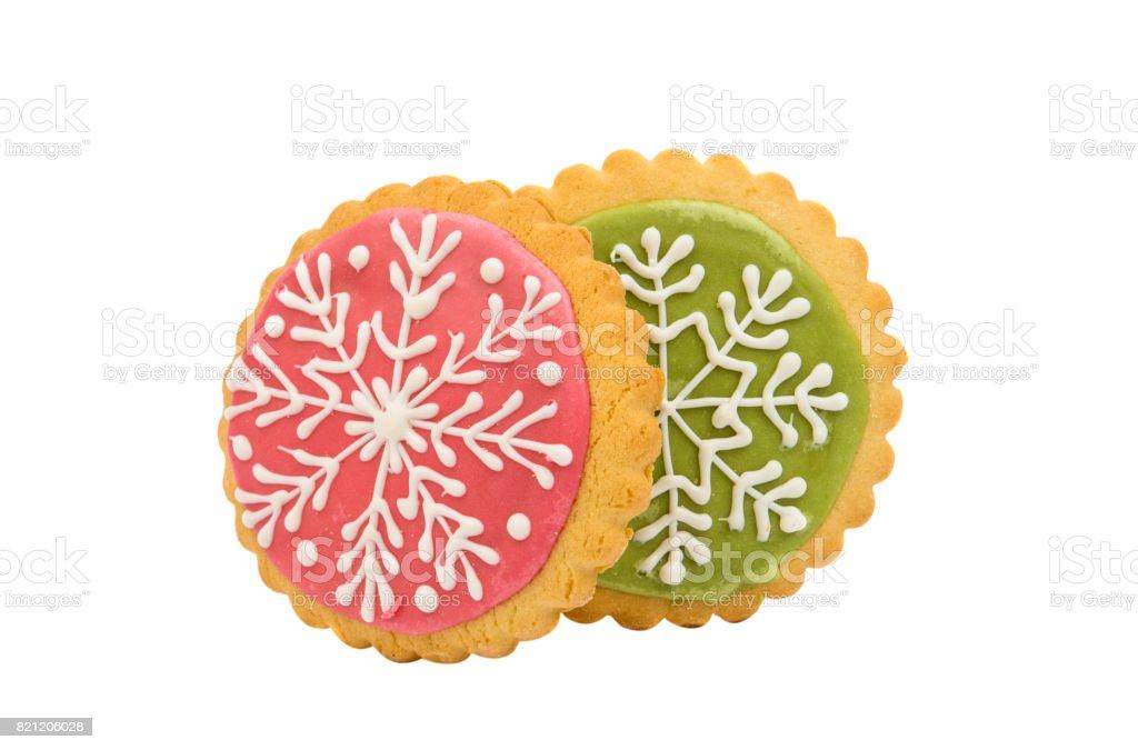 snowflake cookie stock photo