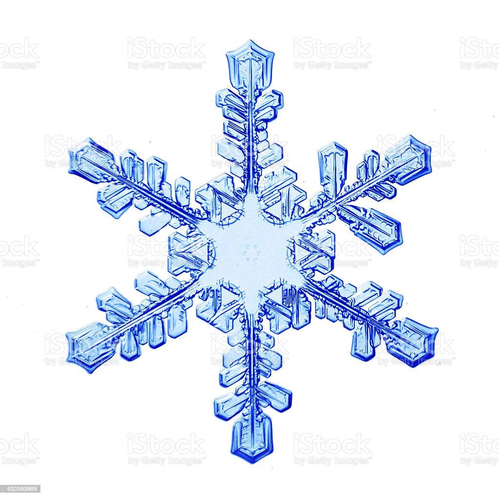 snowflake crystal natural stock photo