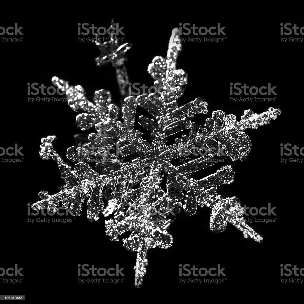 Snowflake detail royalty-free stock photo
