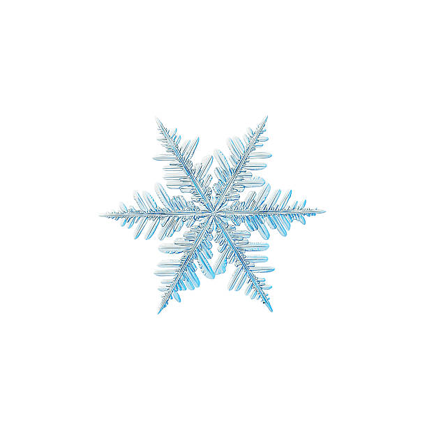 Snowflake isolated on white background stock photo