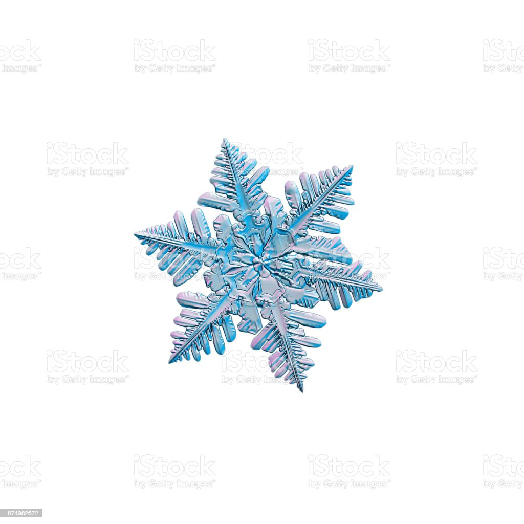 Snowflake isolated on white background stock photo
