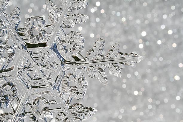 Snowflake macro stock photo