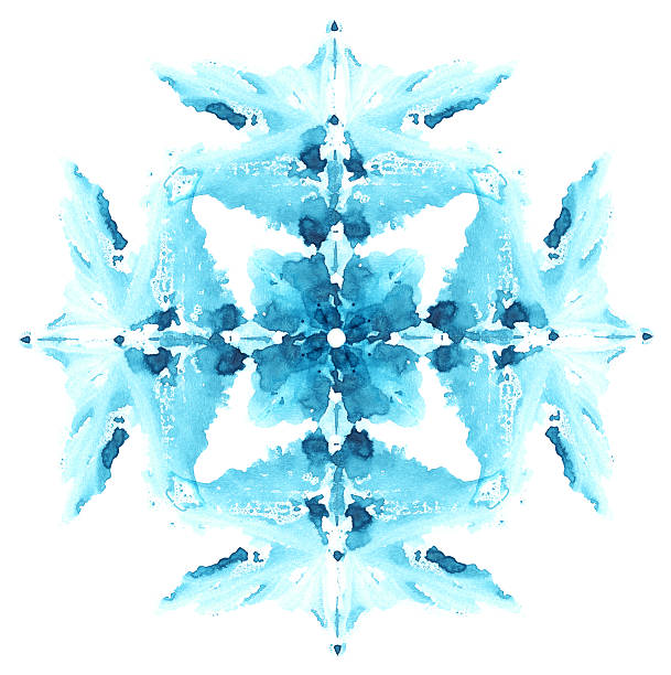 schneeflocke aus impressum aquarell ort. - weihnachtsbilder zum ausmalen stock-fotos und bilder