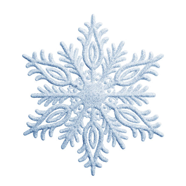 snowflake on a white background - ice crystal stock pictures, royalty-free photos & images
