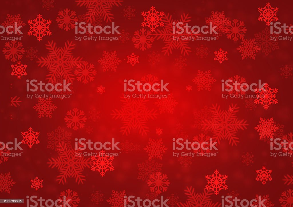 Snowflake red background stock photo