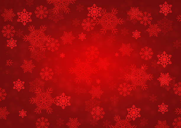 snowflake red background - snowflake stock photos and pictures