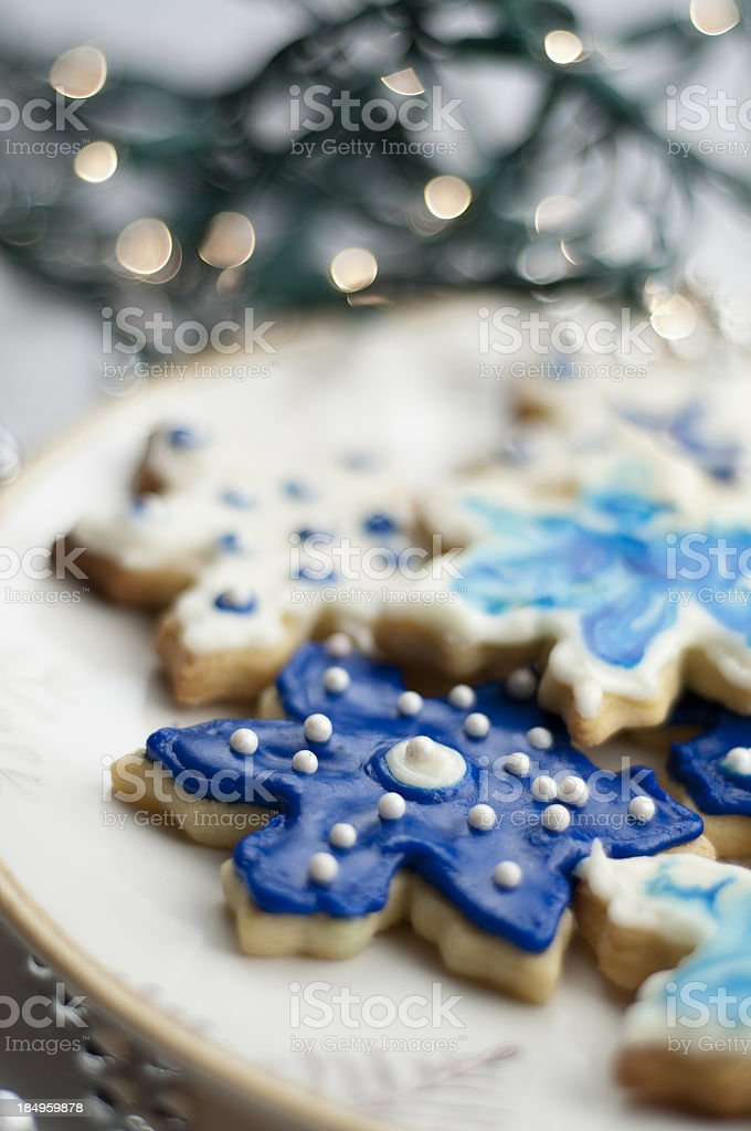 Snowflake Sugar Cookies stock photo