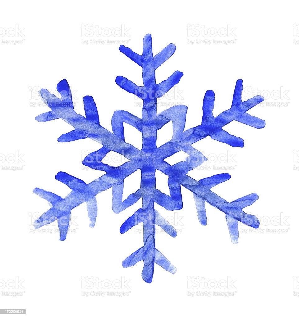 Snowflake watercolor royalty-free stock photo