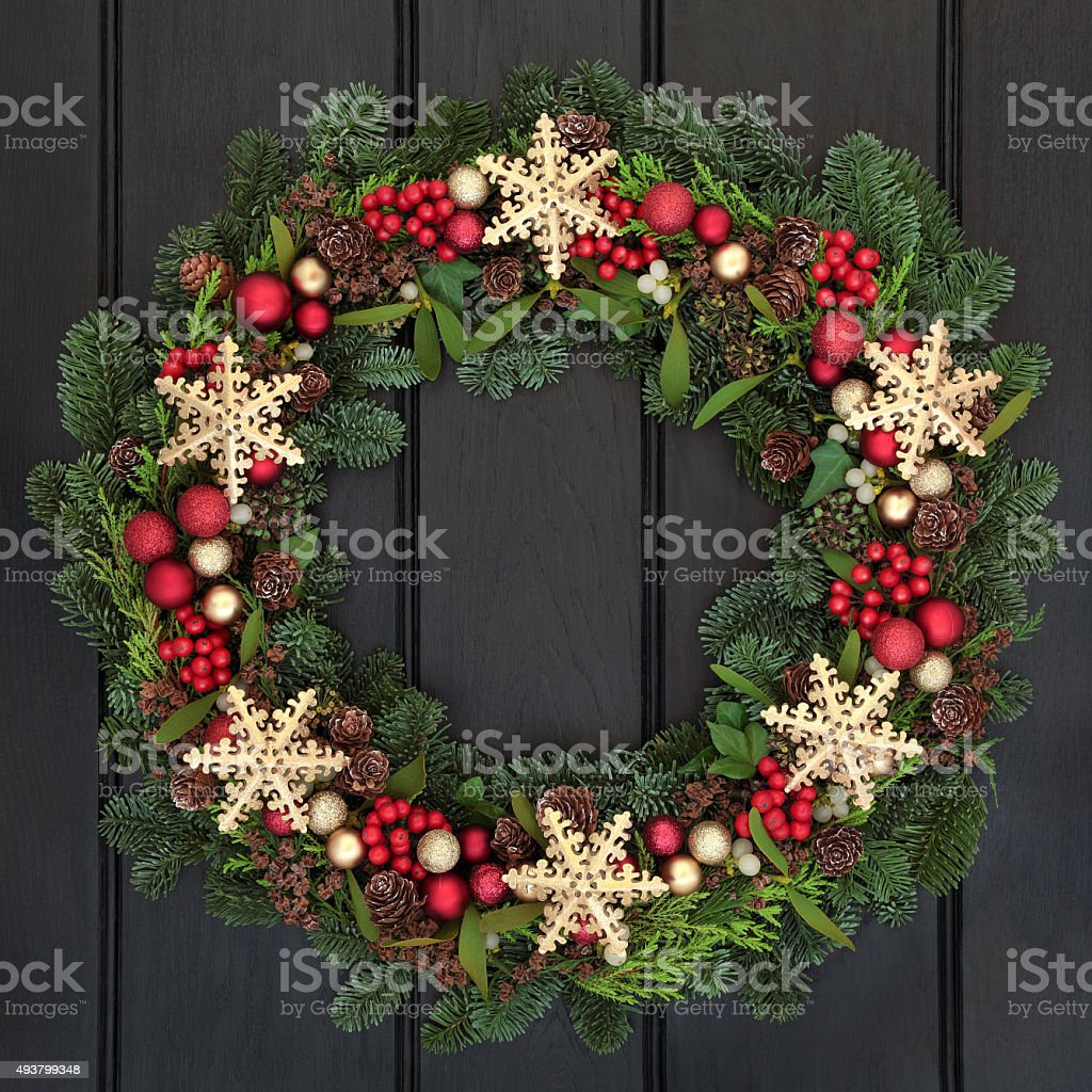 Snowflake Wreath stock photo