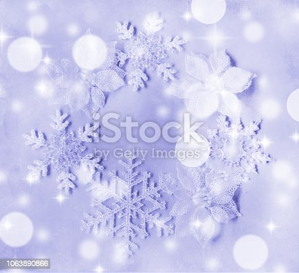 1047386704istockphoto Snowflakes and Edelweiss ring 1063890866