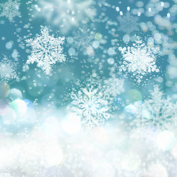 snowflakes background - snowflake background stock pictures, royalty-free photos & images