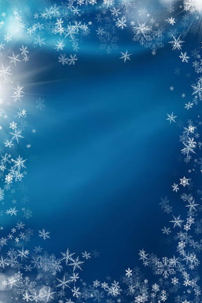snowflakes for christmas stock photo
